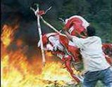 Burning Indonesian Flag (Aceh)